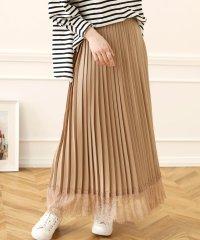 【WEB限定】裾レースプリーツロングスカート
