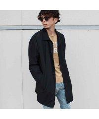 「SJ49-101.102」メンズ コート チェスターコート ステンカラーコート ロング丈 無地 SHI-JYOMAN アメカジ