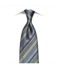 ネクタイ 絹100% 撥水機能付 グレー系 ストライプ柄 ビジネス フォーマル