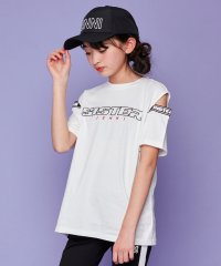 スリットショルダーロゴ半袖T