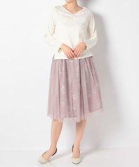 ・SET2点 テレコプルオーバー+花柄チュールスカート