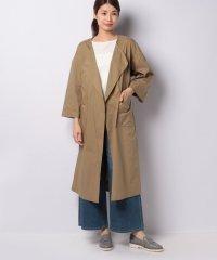 【MIDIUMISOLID】no collar coat