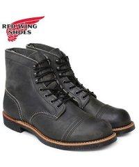 レッドウィング RED WING ブーツ アイアン レンジ 6インチ メンズ アイアンレンジャー 6INCH IRON RANGER Dワイズ ブラック 黒 8