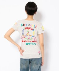 【RAWLIFE限定】birdog/バードッグ/hand embroidery t-shirts -PEACE-/手刺繍Tシャツ -PEACE-