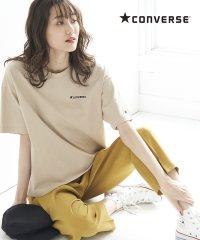 【一部店舗限定】【CONVERSE】天竺刺繍ドロップTシャツ