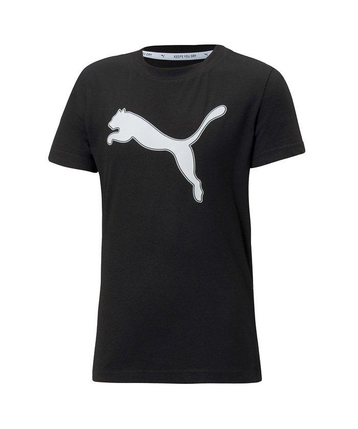 (PUMA/プーマ)プーマ/キッズ/MODERN SPORTS ロゴ Tシャツ/ プーマブラック/プーマホワイト