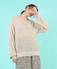 ざっくり編み編みスプリングニット レディース ニット 春新作 春夏 リラックス カジュアルスタイル デート 韓国ファッション