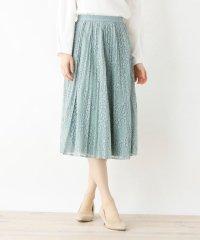 ◆【andGIRL4月号掲載】【42(LL)WEB限定サイズ】フラワーレースプリーツスカート