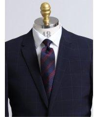 日本製ふじやま織り シルクストライプ柄レギュラーネクタイ8.0cm幅