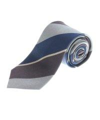 シルク ストライプ柄レギュラーネクタイ8.0cm幅