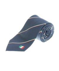 シルク イタリア国旗パネルネクタイ8.0cm幅