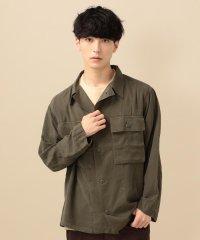 SU: テンセル ARMY ミリタリー シャツ ジャケット
