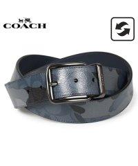 コーチ COACH ベルト レザーベルト メンズ リバーシブル カモ 迷彩 ブルー マルチ F76949-QBBLM