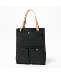【marimekko(マリメッコ)】037523 TOIMI トイミ NORMILAUKUT 1 キャンバス×レザー トートバッグ 900/ブラック 鞄 レディ