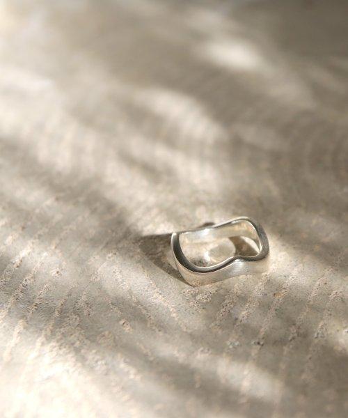 Yarka äーカ Silver925 Plane Wave Ring Uto2 ×レーンウェーブリング 503051747 áゾンムー Maison Mou D Fashion