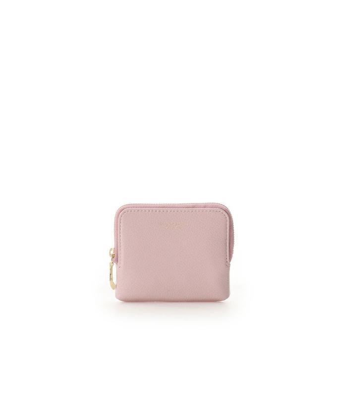 (Samantha Thavasa Petit Choice/サマンサタバサプチチョイス)シンプルレザー コインカードケース/レディース ピンク