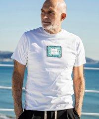 1PIU1UGUALE3 RELAX(ウノピゥウノウグァーレトレ)×Christie Shinn(クリスティ・シン) アイランドワッペンTシャツ