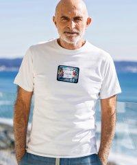 1PIU1UGUALE3 RELAX(ウノピゥウノウグァーレトレ)×Christie Shinn(クリスティ・シン) リゾートワッペンTシャツ