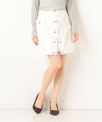 Aラインデニムタイトスカート