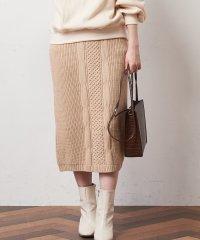 【natural couture】ケーブルニットスカート