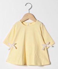【lagom】リボン付きペプラム6分袖Tシャツ
