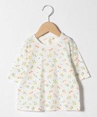 【lagom】花柄6分袖Tシャツ