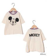 【DISNEY】 ミッキーデザイン 衿配色ビッグTシャツ