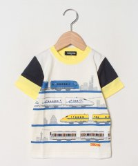 【プラレールコラボ】 4種類乗り物袖配色切り替えTシャツ