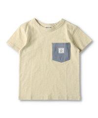 異素材ポケット付き無地Tシャツ(90~150cm)