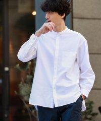 【WEB限定】シャトルオックスビッグボディ バンドカラーシャツ