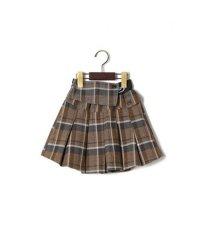 チェック柄変形スカート