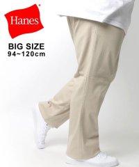 【Hanes】ヘインズ 大きいサイズ ツータックチノパンツ
