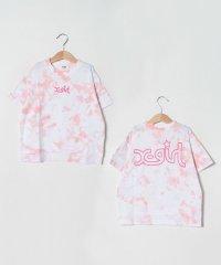 ミルズロゴタイダイ柄Tシャツ