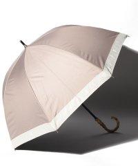 完全遮光 晴雨兼用 長傘 グログラン 遮光率100% 遮蔽率100% 1級遮光 遮熱 軽量 UVカットアイスグレージュ×グログラン