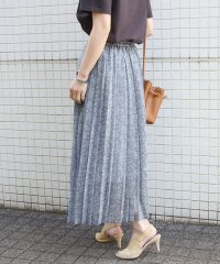 【WEB限定】シアーフラワープリーツスカート