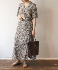olive wrap ドレス◆