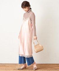 【natural couture】サテンヴィンテージドレス