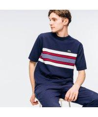 クラシックフィット チェストストライプデザインクルーネックTシャツ