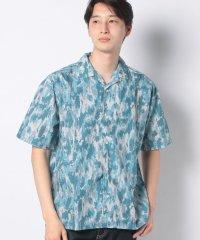 【SENSEOFPLACE】ペイントオープンカラーシャツ(5分袖)
