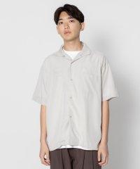 【SENSEOFPLACE】モダールオープンカラーシャツ(5分袖)