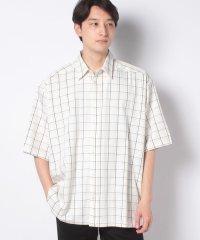 【SENSEOFPLACE】チェックルーズシャツ(5分袖)