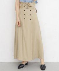 【KBF】ダブルボタンハイウエストスカート