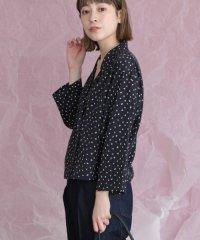 【KBF】変形ドットオープンカラーシャツ