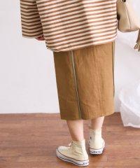 【KBF】WEB限定カラーパイピングスカート