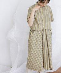 【KBF】WIDEストライプシャツワンピース