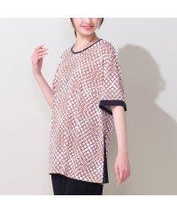 サラサラ強撚スムース・サークルプリントTシャツ