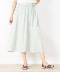 【手洗いOK】リネン調ラップ風フレアスカート