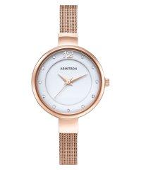 ARMITRON 腕時計 レディース アナログ メッシュブレスレットウォッチ スワロフスキーアクセント