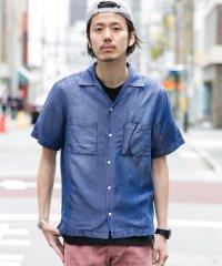【SonnyLabel】テンセルデニムオープンカラー半袖シャツ