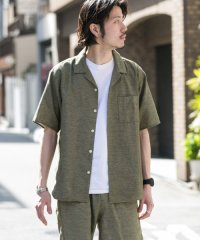 【SonnyLabel】ガーメントダイパナマオープンカラーシャツ
